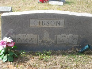 Wiley Berry and Leta Louise Gibson (McKinney) Headstone