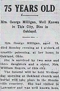 Catharing Milligan (Woodring) Obituary
