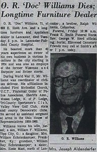 "O.R. ""Doc"" Williams Obituary"