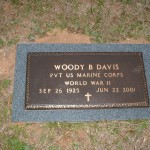 Woody Burl Davis Military Headstone