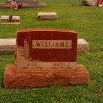 Ruth and Ralph Williams Headstone