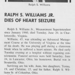 Ralph Williams Jr. On Stream Obituary