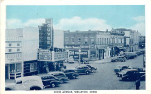 Ohio Avenue, Wellston, Ohio Postcard