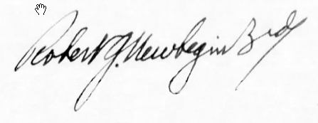 Lt. Cmdr. Robert Newbegin III Signature