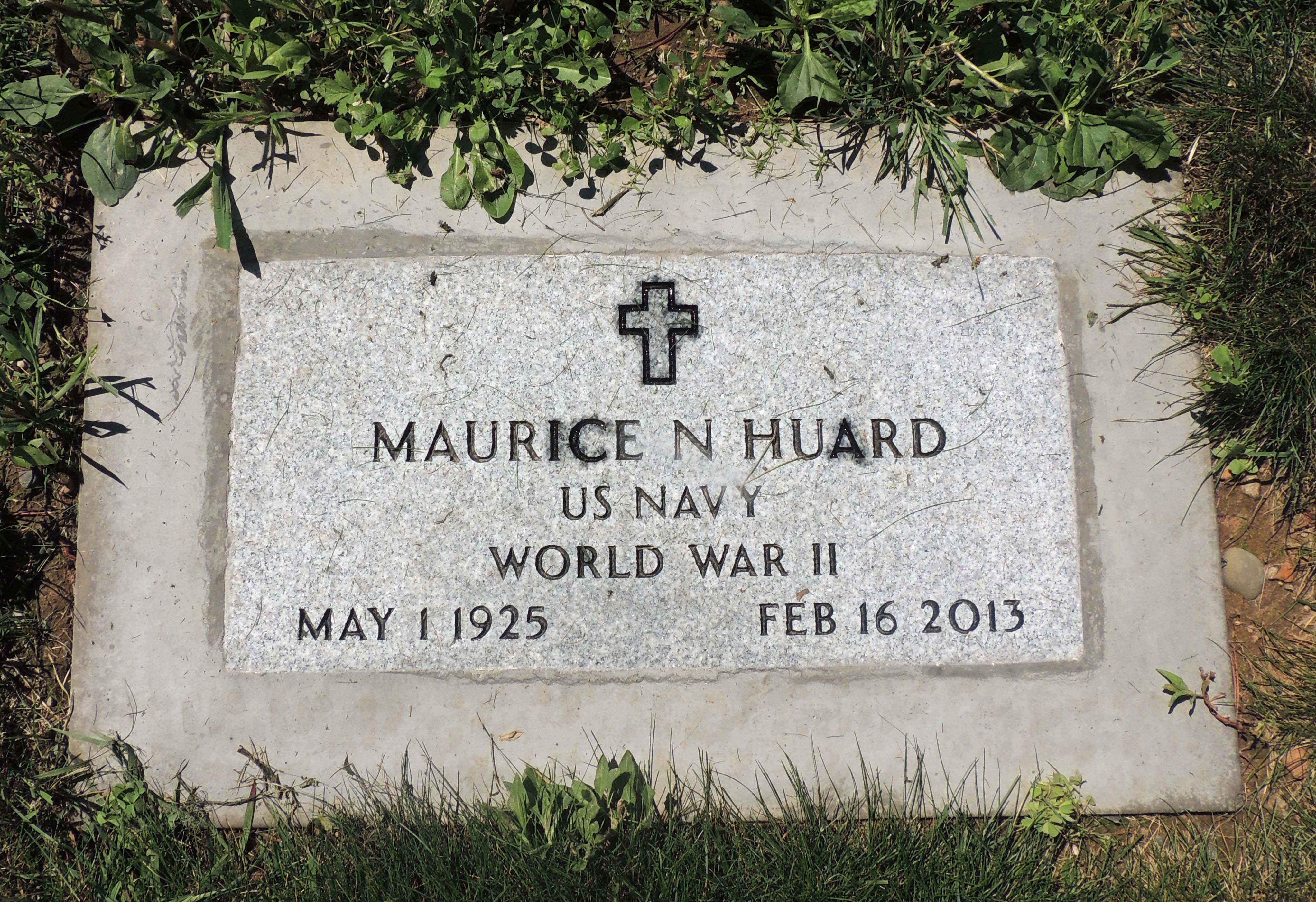 Maurice Huard Grave Marker