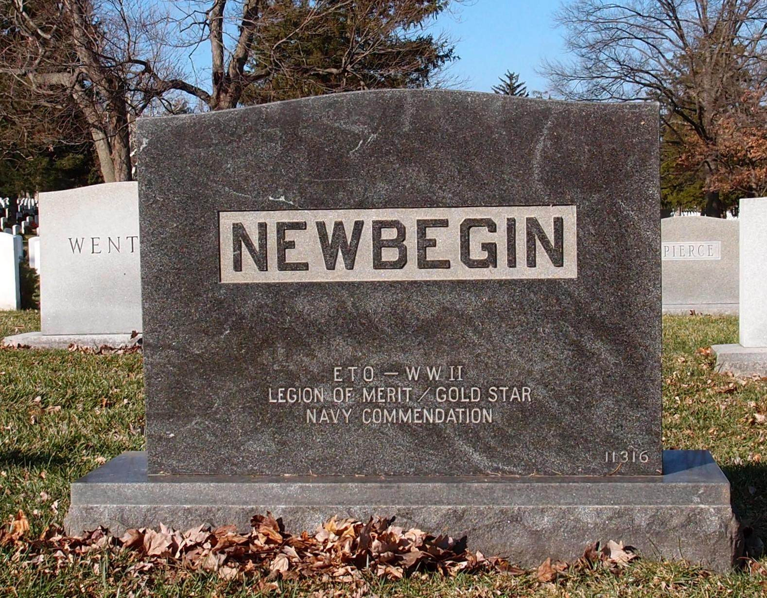 Robert Newbegin III Headstone